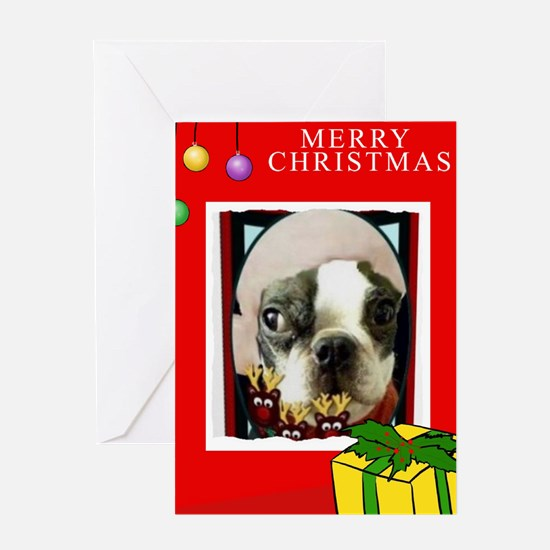 Unique Boston terrier party Greeting Card
