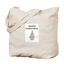 merry xmas number tree Tote Bag