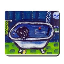 BLACK LAB takes bath Design Mousepad