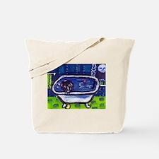 BLACK LAB takes bath Design Tote Bag