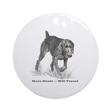 German Wire Hair Pointer slogan Ornament (Round)