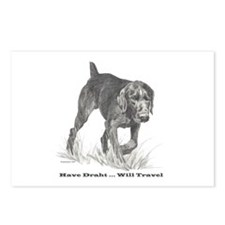 German Wire Hair Pointer slogan Postcards (Package