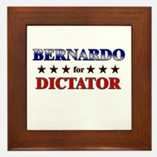 BERNARDO for dictator Framed Tile