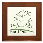 Plant A Tree Framed Tile