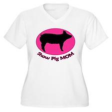 Show Pig Mom T-Shirt