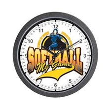 Softball My Game(Womens) Wall Clock
