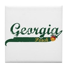 Georgia Peach Tile Coaster