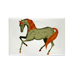 Baroque Dancing Horse Rectangle Magnet