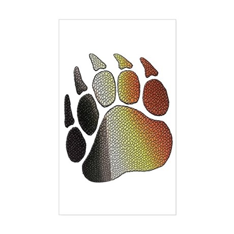 BEAR PRIDE PAW/TEXTURES2 Rectangle Sticker