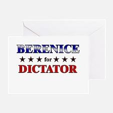 BERENICE for dictator Greeting Card