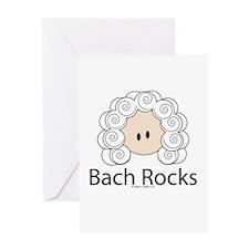 Bach Rocks Bach Greeting Card
