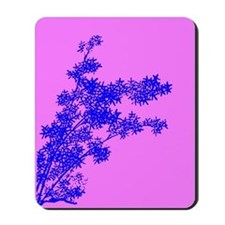 BAMBOO BLUE ON PINK Mousepad