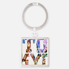 Cute Gouls Square Keychain