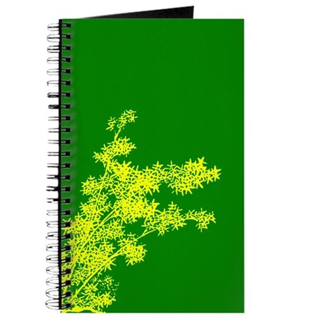BAMBOO YELLOW ON GREEN Journal