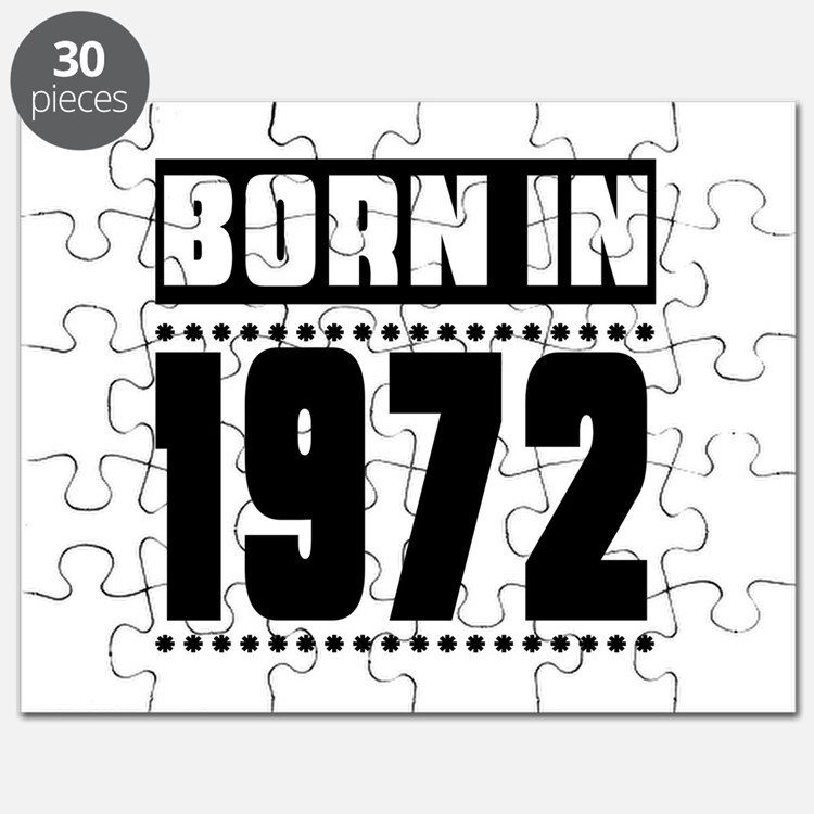 Born In 1972 Birthday Designs Puzzle