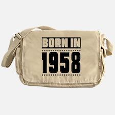 Born In 1958 Birthday Designs Messenger Bag