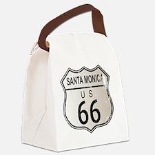 Unique Santa monica city Canvas Lunch Bag