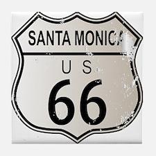 Santa Monica Route 66 Tile Coaster
