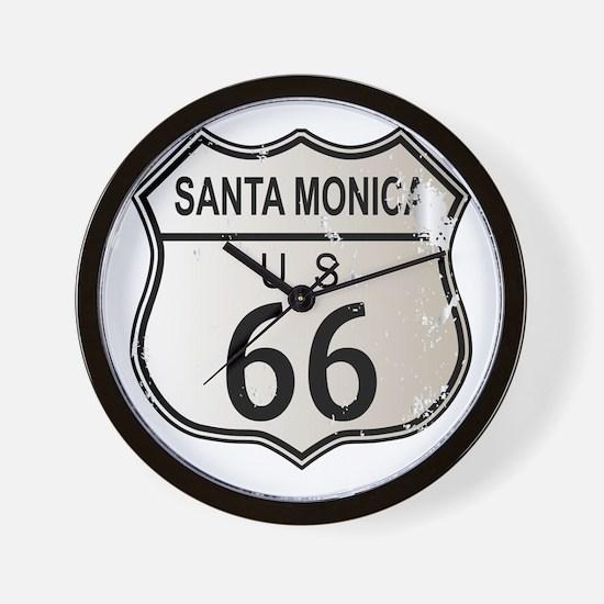 Santa Monica Route 66 Wall Clock