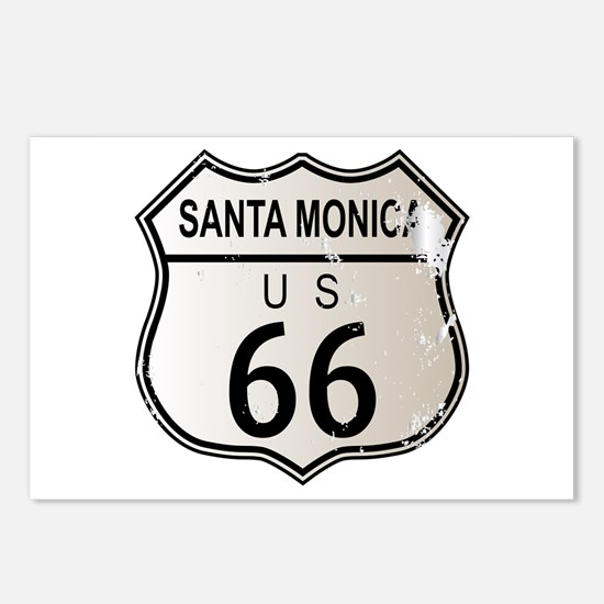 Santa Monica Route 66 Postcards (Package of 8)