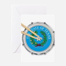 Texas Snare Drum Greeting Cards