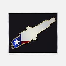 Texas Spark Plug Silhouettes Throw Blanket