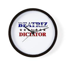 BEATRIZ for dictator Wall Clock
