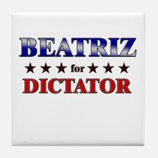 BEATRIZ for dictator Tile Coaster