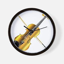 Devils Golden Fiddle Wall Clock