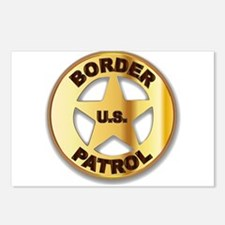 Border Patrol Badge Postcards (Package of 8)