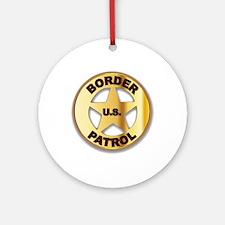 Border Patrol Badge Round Ornament