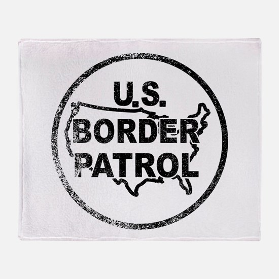 United States Border Control Stamp Throw Blanket