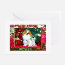 Japanese Chin Christmas Holiday Greeting Cards (Pa
