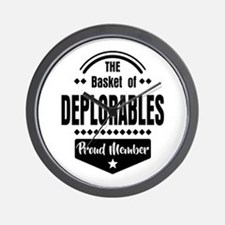 Proud Member of the Basket of Deplorables Wall Clo