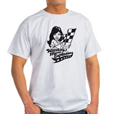 Flag girl grey jersey T-Shirt