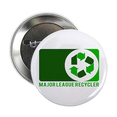 """Major League Recycler Grn 1 2.25"""" Button"""