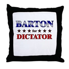 BARTON for dictator Throw Pillow