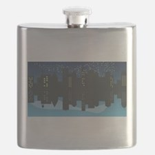 Cute Metro man Flask