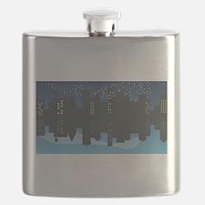 Unique Atlanta skyline Flask