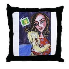 Wheaten Lady Dance Throw Pillow