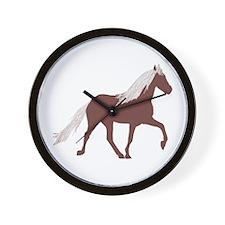 Mtn Horse Wall Clock