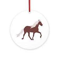 Mtn Horse Ornament (Round)