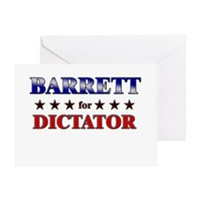 BARRETT for dictator Greeting Card