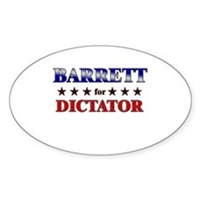 BARRETT for dictator Oval Decal
