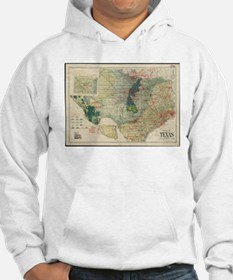 Vintage Map of The Texas Oil and Hoodie