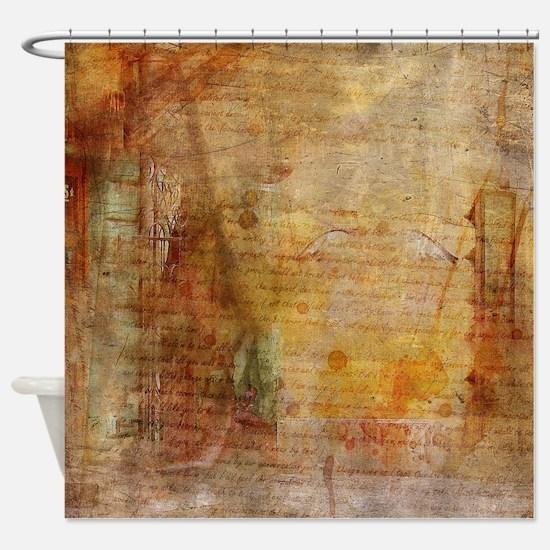 Cute Brown Shower Curtain