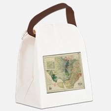 Vintage Map of The Texas Oil and Canvas Lunch Bag