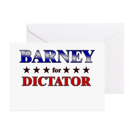 BARNEY for dictator Greeting Cards (Pk of 10)