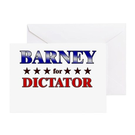 BARNEY for dictator Greeting Card