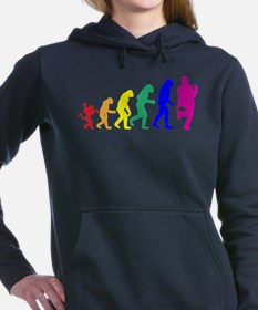 gayevolution.png Women's Hooded Sweatshirt